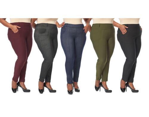 Leggings - Women's Plus Size Leggings Jeans Look Jeggings Stretch Pants Size