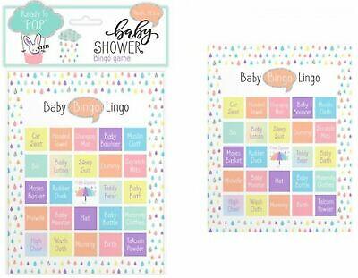 Baby Shower BINGO CARDS Cards Games Ideas for Boy or Girl,Gender Neutral-12 Pack