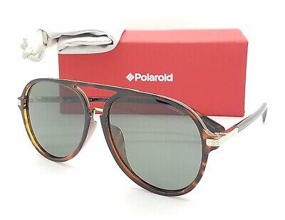 NEW Polaroid sunglasses PLD2077/F/S 086UC Dark Havana 58 Green AUTHENTIC (Polaroid Sunglasses Aviator)