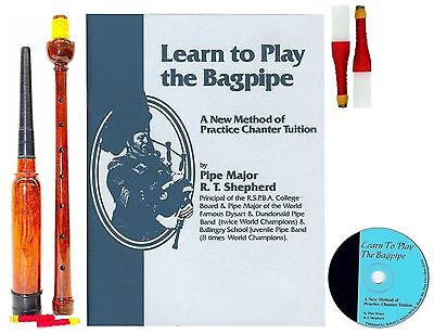 928774cae764 Learn to Play Bagpipes Manual BOOK CD and PRACTICE CHANTER FAST SHIPPING