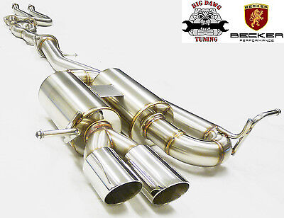 BECKER Cat. Back Exhaust System Fits BMW 2008-2013 135i Turbo 3.0L I6 N54/55B30