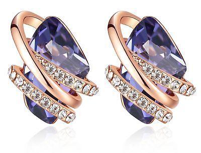 Swarovski Crystal Silver Plated Earrings -
