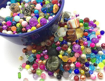 1000g Glasperlen Chaosmischung verschiedene Chaostüte Perlen Beads Glas Crash
