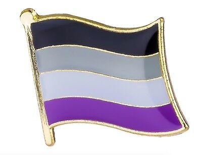 Asexual Flag Lapel Pin 16mm x 9.5mm Gay Lesbian Pride LGBT Hat Tie Tack Badge
