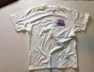 Vintage John Force NHRA Drag Racing T-shirt size L