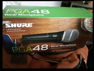 Microphone shure pg48 new in box with 25 foot xlr cable