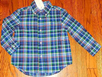 POLO RALPH LAUREN ORIGINAL BABY BOYS BRAND NEW BLUE DRESS SHIRT Size 12M, NWT for sale  Shipping to India