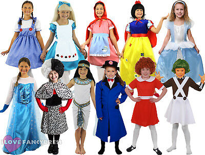 GIRLS SCHOOL BOOK WEEK FANCY DRESS COSTUME CHOOSE STYLE CHILD'S WORLD BOOK (World Book Week Kostüm)
