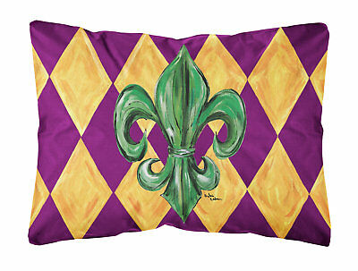 Caroline's Treasures Mardi Gras Fleur De Lis Purple Green &