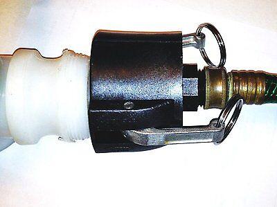 275 330 Gn Ibc Tote Tank Drain Adapter 2  Cam Lock X Garden Hose Thd Food Grade