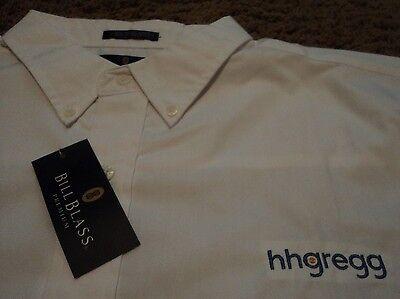 Mens   Hhgregg Hh Gregg   Long Sleeve Oxford Dress Uniform Shirt   Nwt Xl