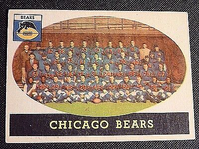 1958 Topps #29 Football Card CHICAGO BEARS Team 59 Yrs Old EX/NM !!! tedsclutch