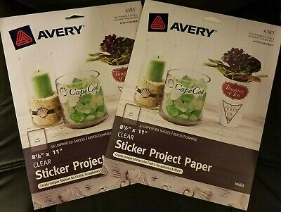 2 Avery Sticker Project Paper 10 Unprinted Full Sheet 8-12 X11 Template 4383
