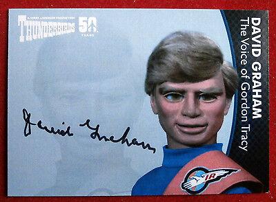 THUNDERBIRDS 50 YEARS - David Graham (Gordon Tracy) Autograph Card - DG2