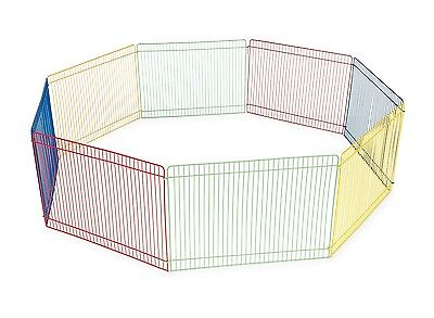Dog Pet Small Animal Play Pen Exercise Puppy Cage Crate Portable Cat 8 Panels