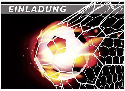 Kindergeburtstag Motiv Fussball Tor Einladung für Jungen (16. Geburtstag Für Jungen)