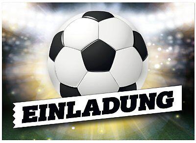 Kindergeburtstag Fussball Einladung für Jungen mit Ball (16. Geburtstag Für Jungen)