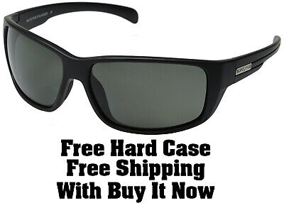 Suncloud Milestone Sunglasses - Matte Black w/Grey Polarized + Free Hard (Sunclouds Sunglasses)