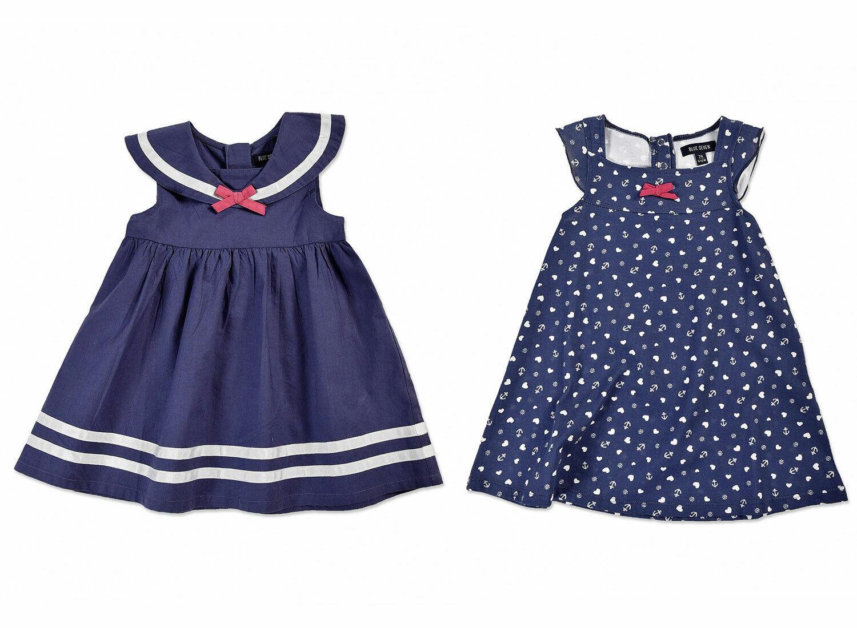 BLUE SEVEN ♥ Baby Mädchen Kleid Matrosenkragen ANKER in blau ♥ Gr. 62 68 74