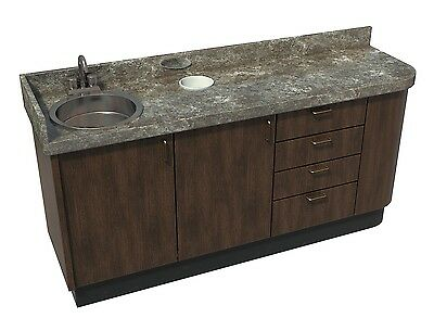 Side Dental Cabinet With Sink - Real Wood - Custom Built - New