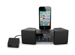 iLuv iMM155 Vibro II Audio Dock Alarm Clock with Bed Shake iPod Black