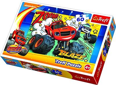 Trefl 60 Pieza Infantil Grande Blaze And The Monster Machines Equipo Puzle...