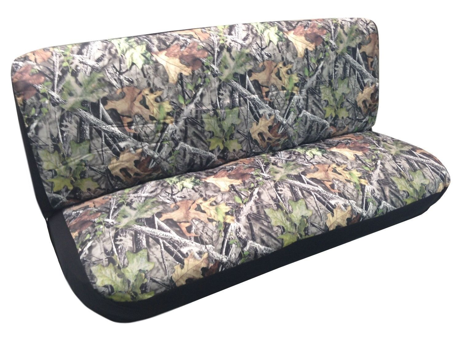 Camo Bench Seat Cover Camouflage Forest Gray Fits Chevy