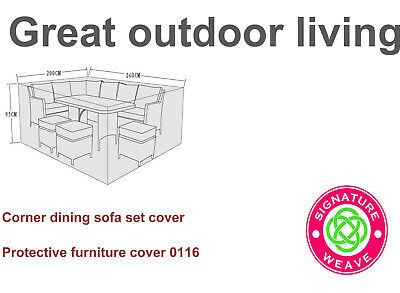 Garden furniture cover for corner dining sofa or rect dining set