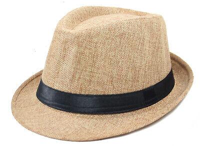 Cappello Panama con Fascia Unisex Accessorio Estate Mare Spiaggia Uomo Donna