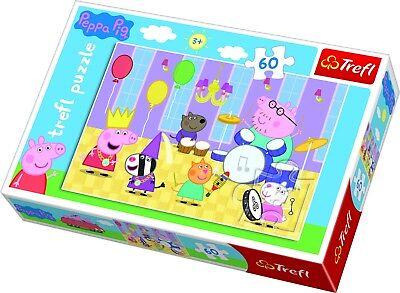 Trefl 60 Stück Kinder Mädchen Peppa Pig At The Ball Party Spiel Spaß Puzzle Neu