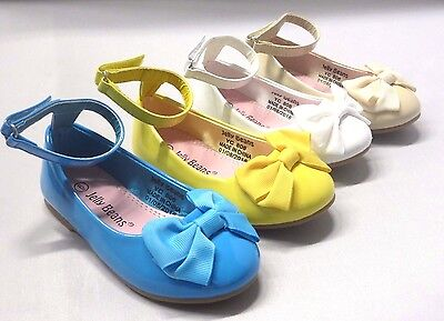 Girl Dress Flats Patent (firona) Toddler Pageant Flower Girls Yellow Nude White - White Toddler Dress Shoes