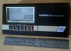 Vintage Casio MQ-200 Desktop LCD Calculator & Alarm Clock 80s Made In Japan