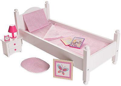 "Eimmie 18"" Doll Furniture Bed w/ Accessories"