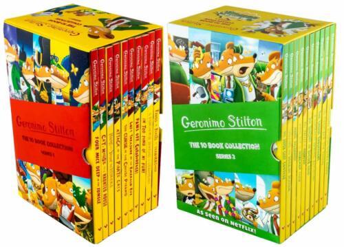 Geronimo Stilton 20 Books Series 1 & 2 Children Collection Paperback Box Set