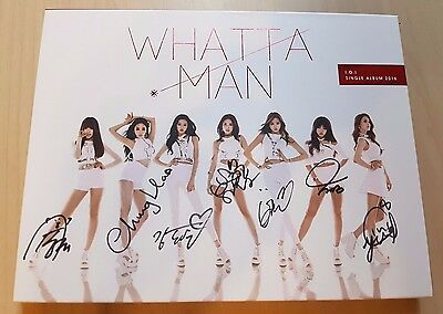 I.O.I ioi signed/autographed Whatta Man album no photo card mwave rare