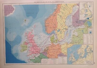 The North Sea & The Baltic Communications 1952, Mercantile Marine Atlas, Philip
