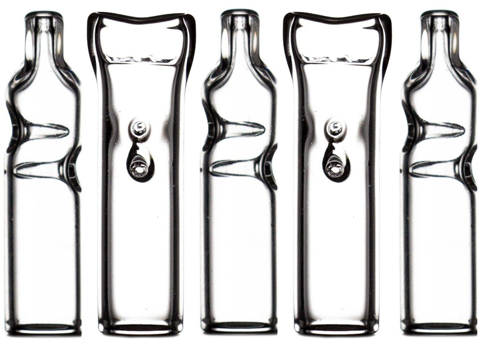 Dank Tips 5 Flat-Mouth Glass Filter Tips DankTips