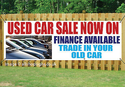 USED CAR SALE NOW ON OUTDOOR SIGN GARAGE BANNER waterproof PVC + Eyelets 004