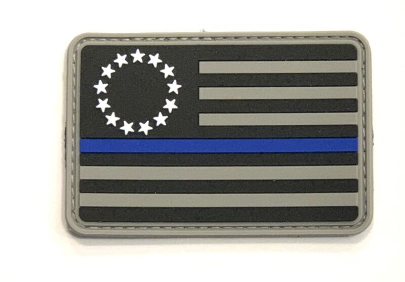 Thin Blue Line Betsy Ross Flag Morale Patch Police Law Enforcement USA America