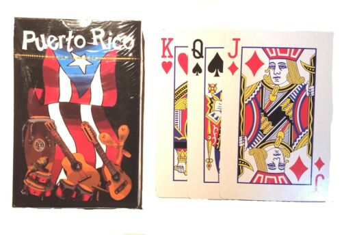 Puerto Rico Flag Musical Naipes Poker Playing Cards Deck #4 Rican Boricua Casino