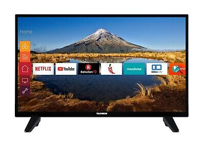 Telefunken XH32E411N 32 Zoll Fernseher - HD Ready Smart TV mit Triple-Tuner WLAN Hd Tuner Hd Ready Tv