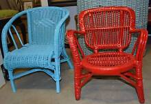 two fabulous childs red or blue cane chairs Greensborough Banyule Area Preview