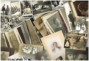 FAMILY PHOTOS & POSTCARDS ANTIQUE TO VINTAGE BULK LOT OF 200 PEOPLE & PLACES