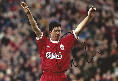 Hand Signed 8x12 photo ROBBIE FOWLER Liverpool ENGLAND Football + COA