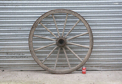 Vintage old wooden cart wagon wheel  / 105.5 cm - 23.5 kg - FREE DELIVERY