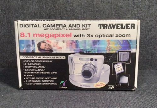 Aldi Traveler 8.1 Megapixel Digital Camera Kit- Excellent Cond.