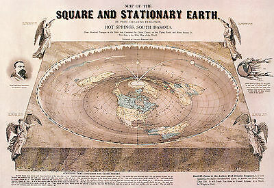 """Flat Earth """"Orlando-Ferguson-flat-earth-map"""" POSTER **FREE NEXT DAY DELIVERY**"""