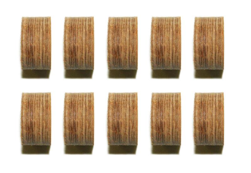 Lot of 10 Leather Layered Pool - Billiard Cue Tips 13 mm Choose Soft Medium Hard