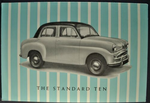 1954 Standard Ten 10 Sedan Sales Brochure Folder Excellent Original 54