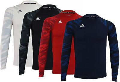 Adidas Men's Team Techfit Long Sleeve Shirt, Color Options (Adidas Techfit Long Sleeve)